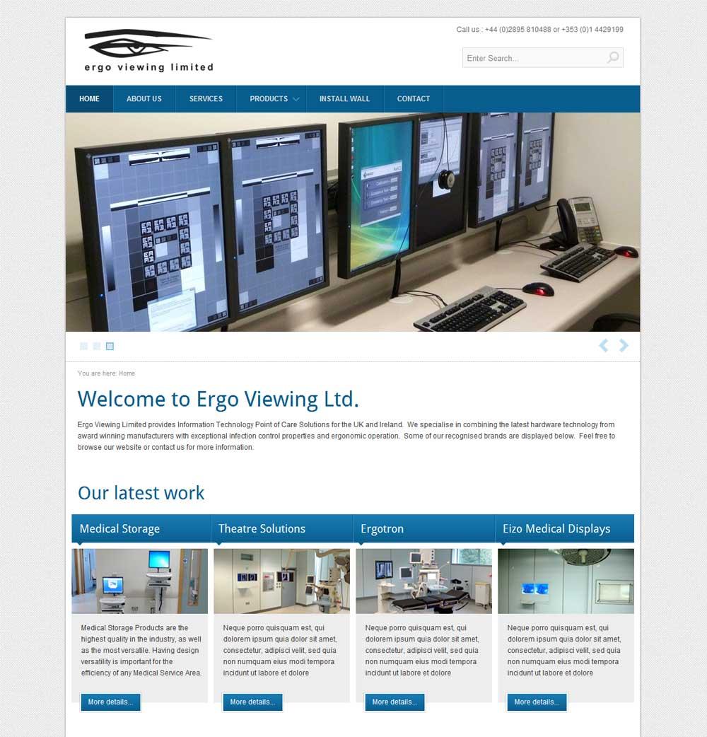 website design ergo viewing medical website designed by. Black Bedroom Furniture Sets. Home Design Ideas