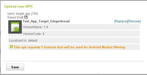 Multiple APK support - screenshot example #2