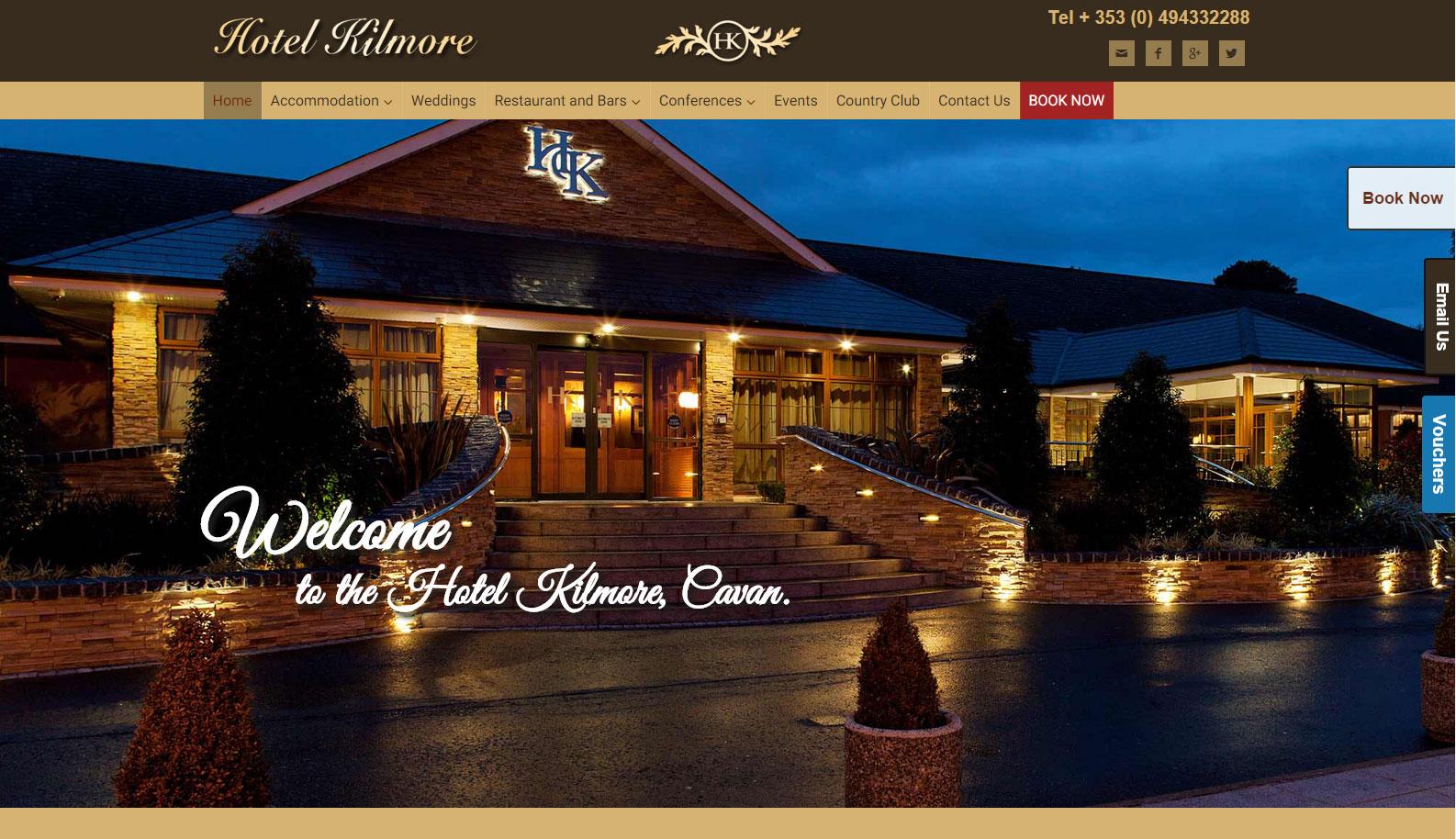 Hotel kilmore cavan mobile responsive redesign website for Design hotels 2015