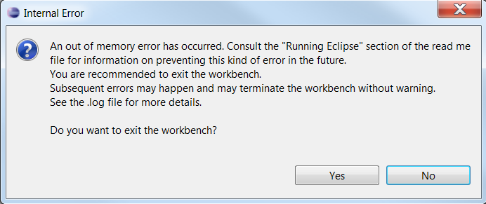 Android Dev: Eclipse error: GC overhead limit exceeded